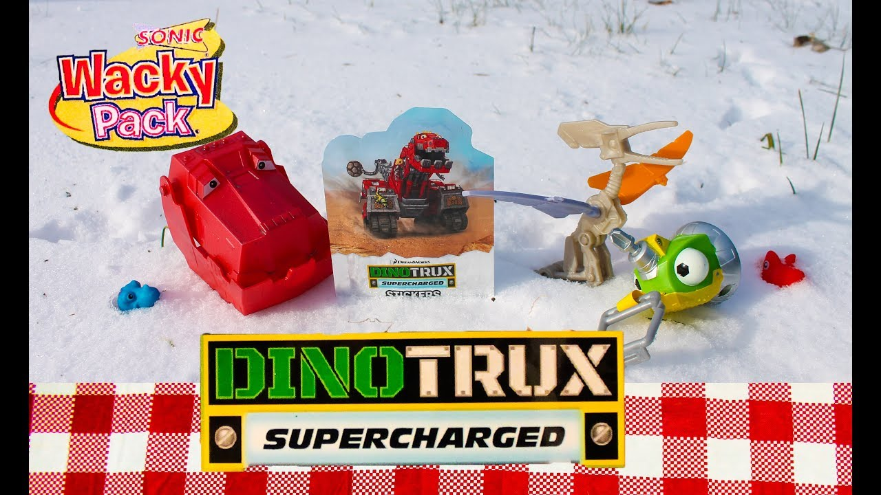 Complete Set Of 2018 Dinotrux Kid Meal Toys From Sonic Drive In
