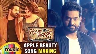 Download Hindi Video Songs - Janatha Garage Telugu Songs | Apple Beauty Song Making | Jr NTR | Samantha | Nithya Menen | DSP