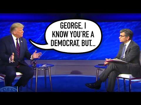 LOL: President Trump CALLS OUT George Stephanopoulos In Town Hall
