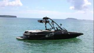 wakeboarding behing the axis a22