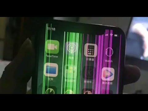 Lỗi sọc màn hình trên iPhone X – Bệnh viện điện thoại 24h