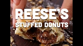 How to Make Reeses Stuffed Donuts