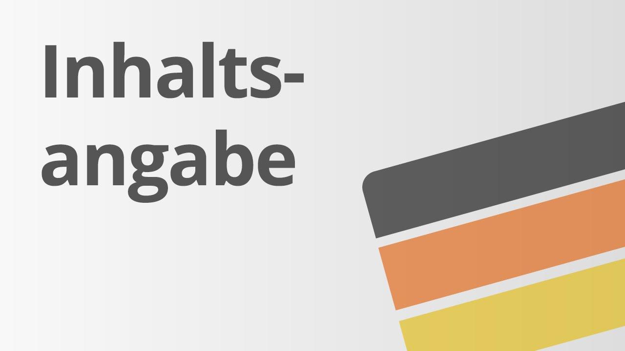 Das Schreiben Einer Inhaltsangabe übungsvideo Deutsch Texte