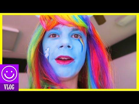 IT'S RAINBOW DASH!!  My Little Pony Makeover for Noah!  With Rainbow Hair!  |  KITTIESMAMA