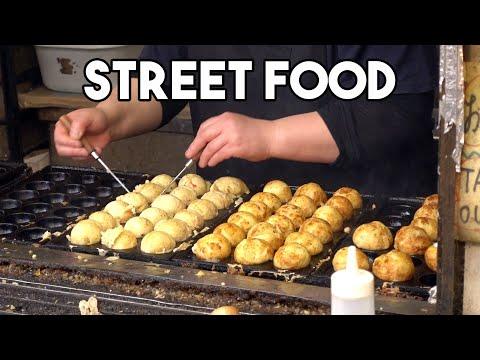 Japanese Street Food - Tokyo Street Food Tour + BEST Takoyaki In Tokyo
