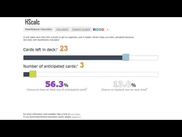 Видео-обзор написанного мной небольшого сервиса для рассчёта вероятностей событий в игре Hearthstone