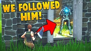 so I followed around SKULL TROOPERS as a FAKE Default in Fortnite!