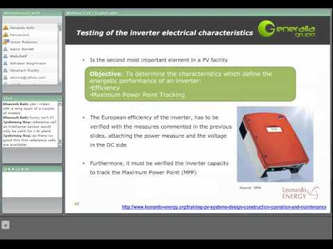 Training on Photovoltaic Systems - Session 2 - Construction