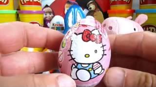 36 Surprise eggs, Маша и Медведь Kinder Surprise Disney Pixar Cars 2 Mickey Mouse Angry Birds