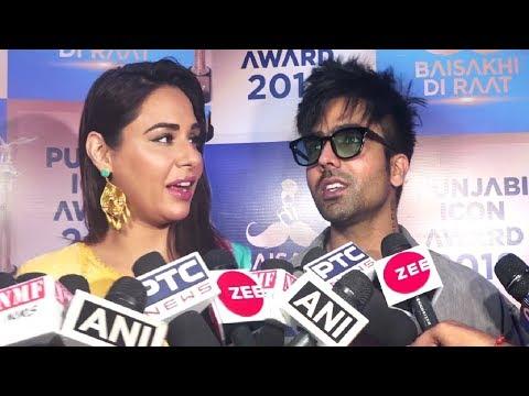 Hardy Sandhu And Sunanda Sharma Interview At Punjabi Icon Awards 2018