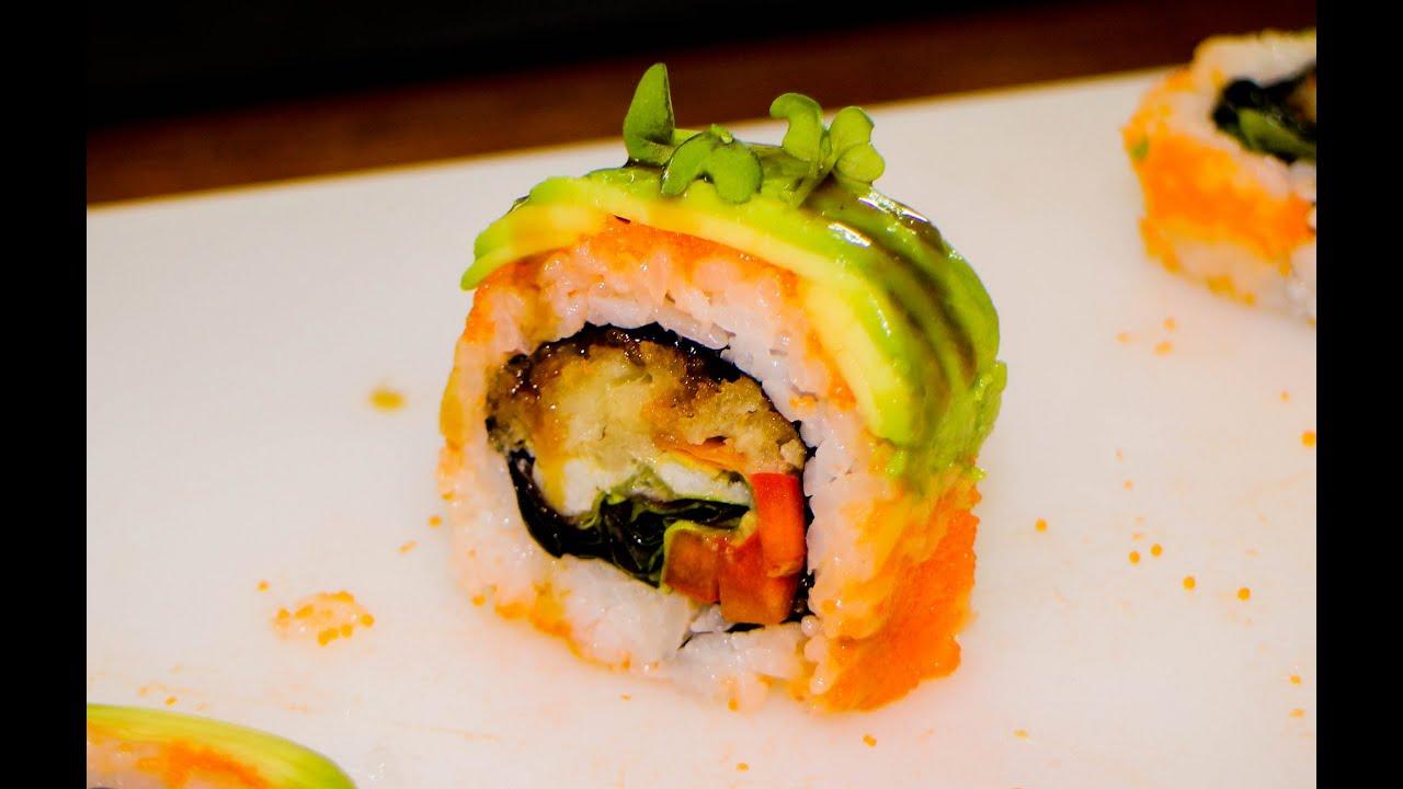 Sushi Roll Soft Shell Crab Tempura - Sushi Rolls - YouTube