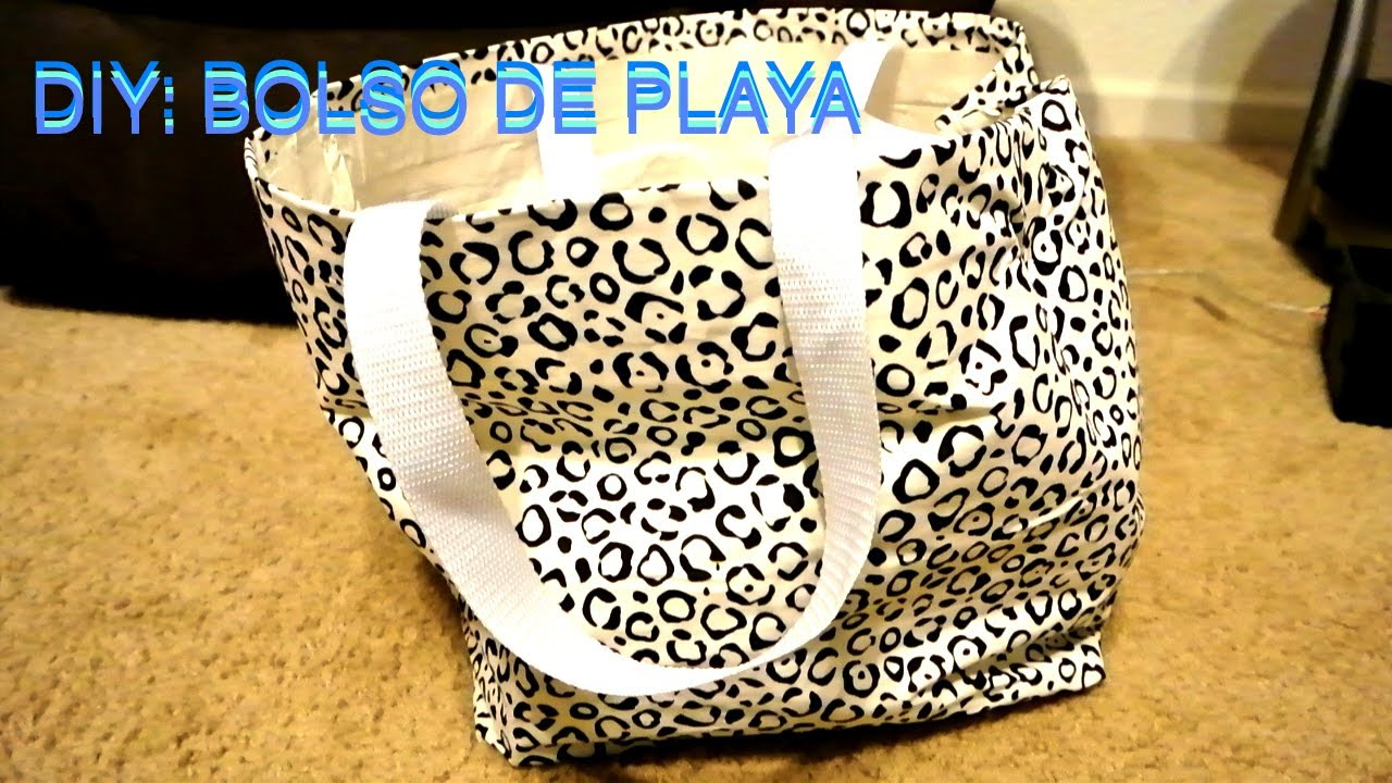Diy bolso para playa no se necesita coser newlifemejia youtube - Bolsos de tela hechos en casa ...