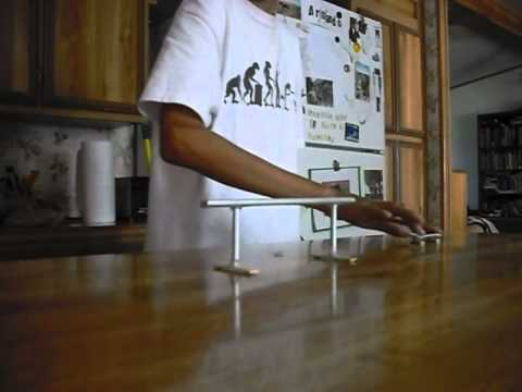 Fingerboard double rail tricks