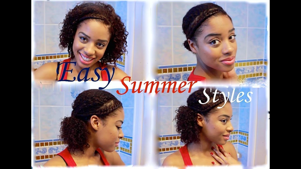 Easy Quick Summer Natural Hairstyles! YouTube