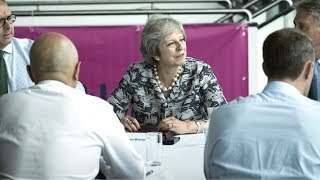 Theresa May's Q&A with factory workers - watch live thumbnail