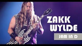 Zakk Wylde Style Ballad Backing Track Jam in D minor