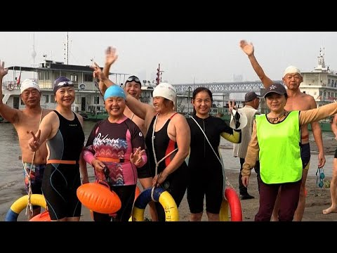 No Comment TV: Wuhan river swimmers happy to be back after virus lockdown