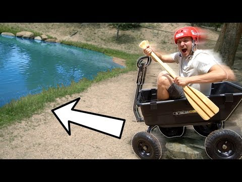 FLYING INTO A LAKE ON A WAGON!