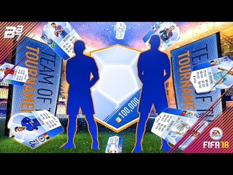 TEAM OF THE TOURNAMENTS IN A PACK! 100K PACKS!   FIFA 18 ULTIMATE TEAM