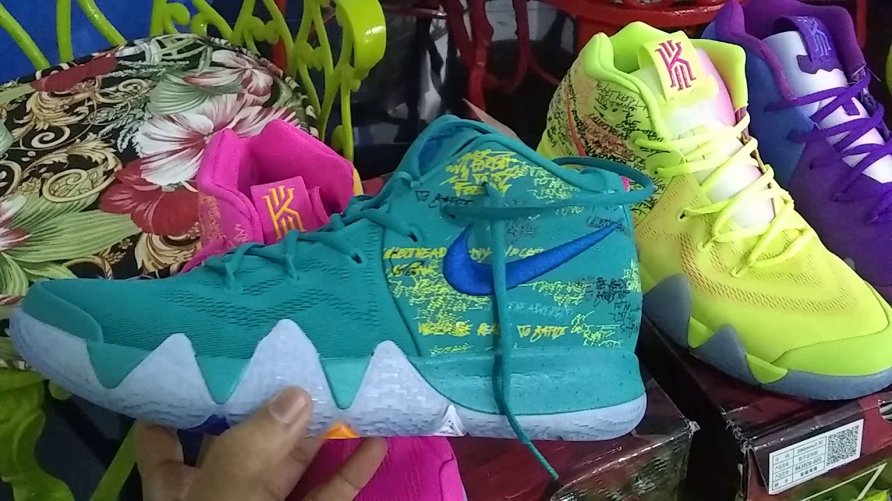 pretty nice 574e6 e30d7 Kyrie 4 confetti and Kyrie 4 confetti alternative