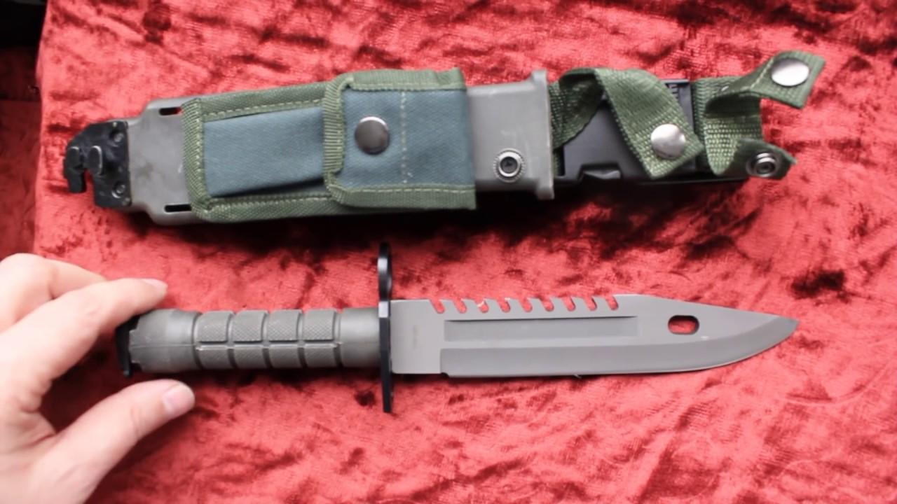 Нож армейский M-9 (М-9) army knife M-9 - YouTube