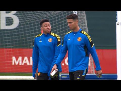 Cristiano Ronaldo Leads Manchester United In Training Ahead Of Atalanta In Champions League