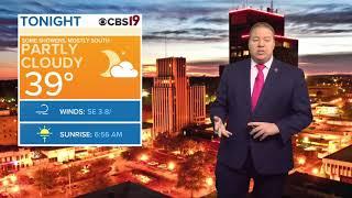Tyler Paper - CBS 19 Morning Weather Update For November 21st, 2018