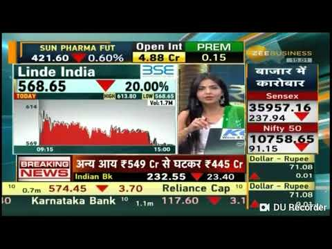 Zee Business Research On 'Linde India' And Expert Given Views On Linde India On 25 Jan 19