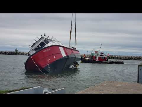 Canadian Coast Guard self righting test