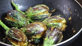 आईच्या हातची भरली वांगी !! Delicious testy fresh  Bharli Vangi Recipe !! marathi !!