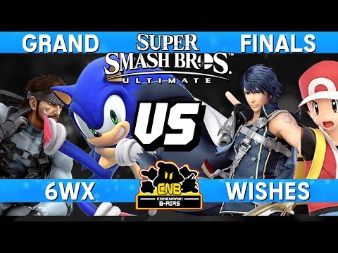 Smash Ultimate Tournament Grand Finals - 6WX (Snake/Sonic) v Wishes (Chrom/Pokemon Trainer)  CNB 169