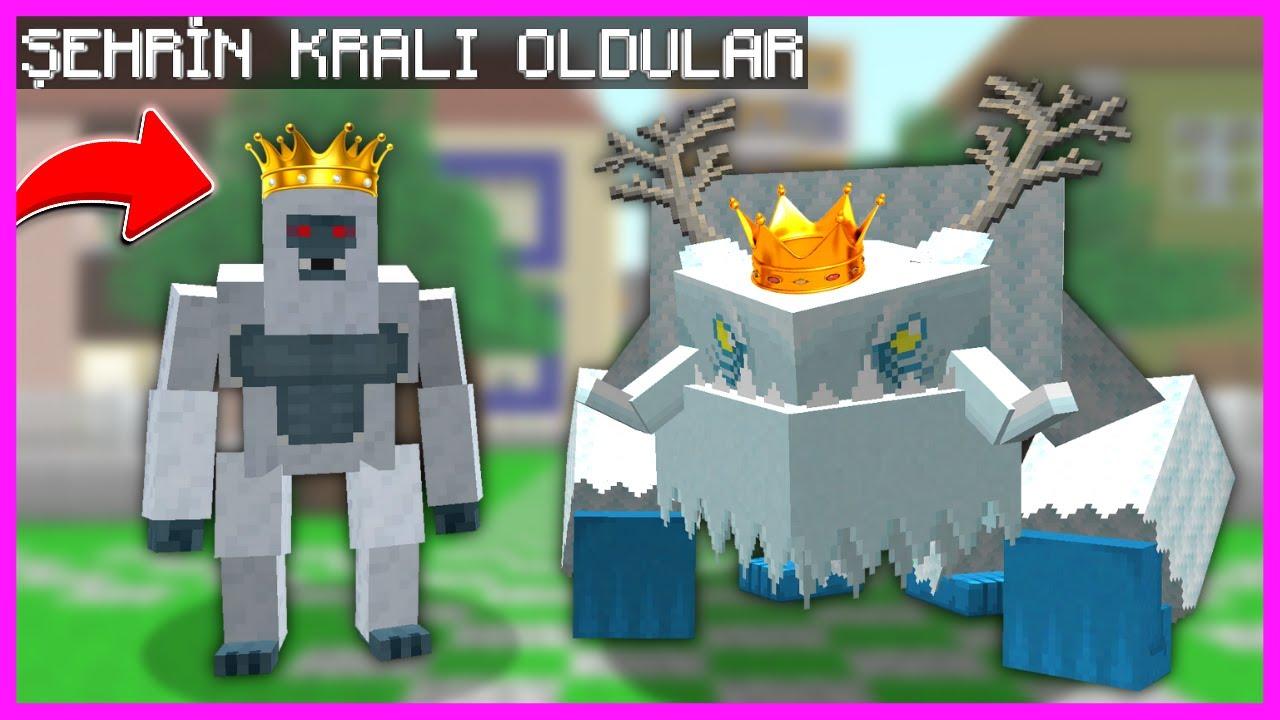 YETİ VE KAR CANAVARI ŞEHRİN BAŞKANI OLDU! 😱 - Minecraft