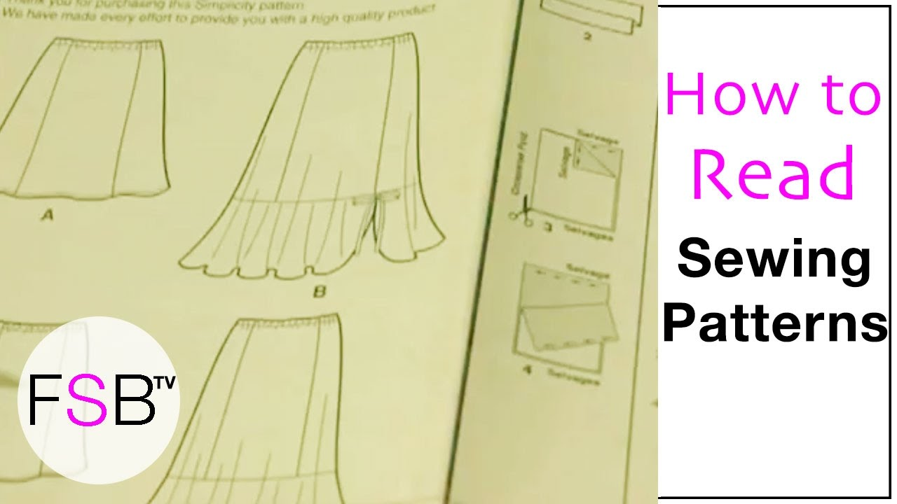 Reading a Sewing Pattern Worksheet - YouTube