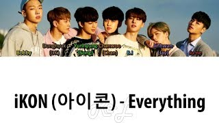 Ikon  아이콘  - Everything  Color Coded Lyrics English/rom/han