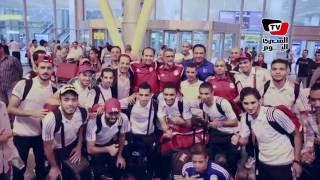 استقبال بعثة منتخب مصر لـ«كرة الصالات» بالطبل والمزمار في مطار القاهرة