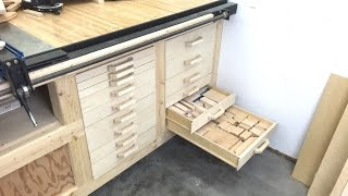 Scrap storage drawers