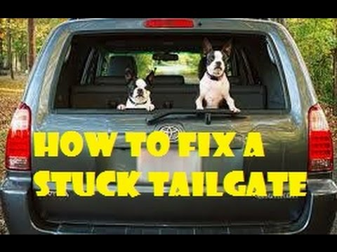 TOYOTA 4Runner HATCH TAILGATE LATCH REPAIR - won\u0027t open - YouTube