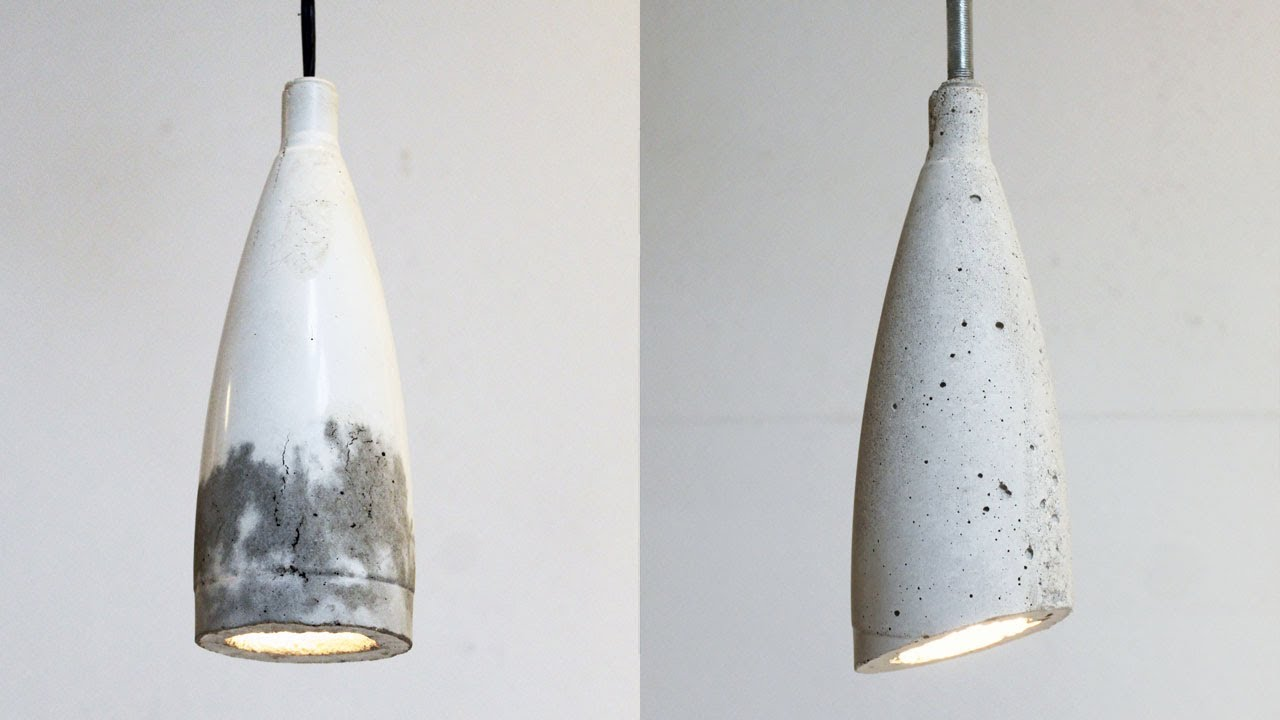 Homemade Modern Episode 9 Diy Concrete Pendant Lamp Youtube