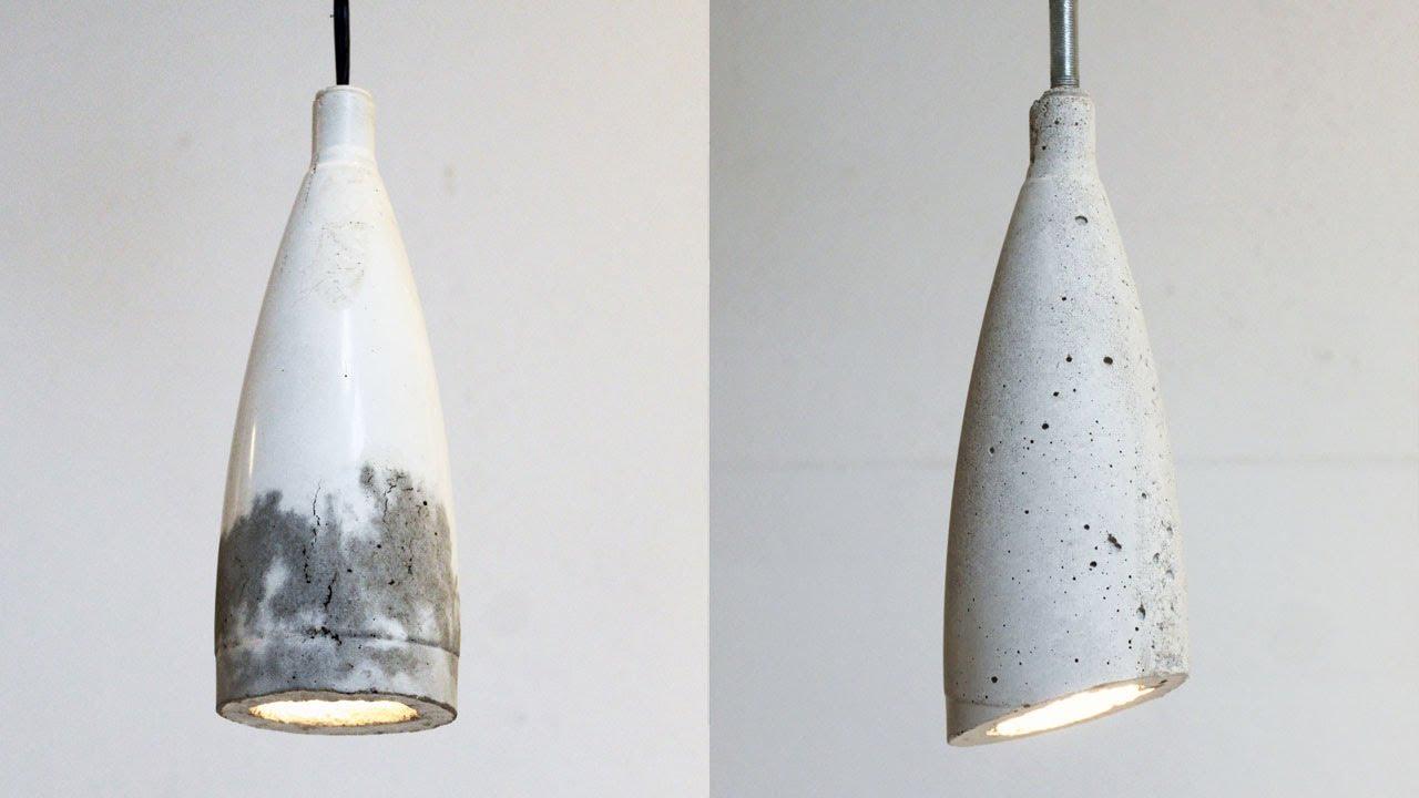 Homemade Modern, Episode 9 -- DIY concrete pendant lamp ...