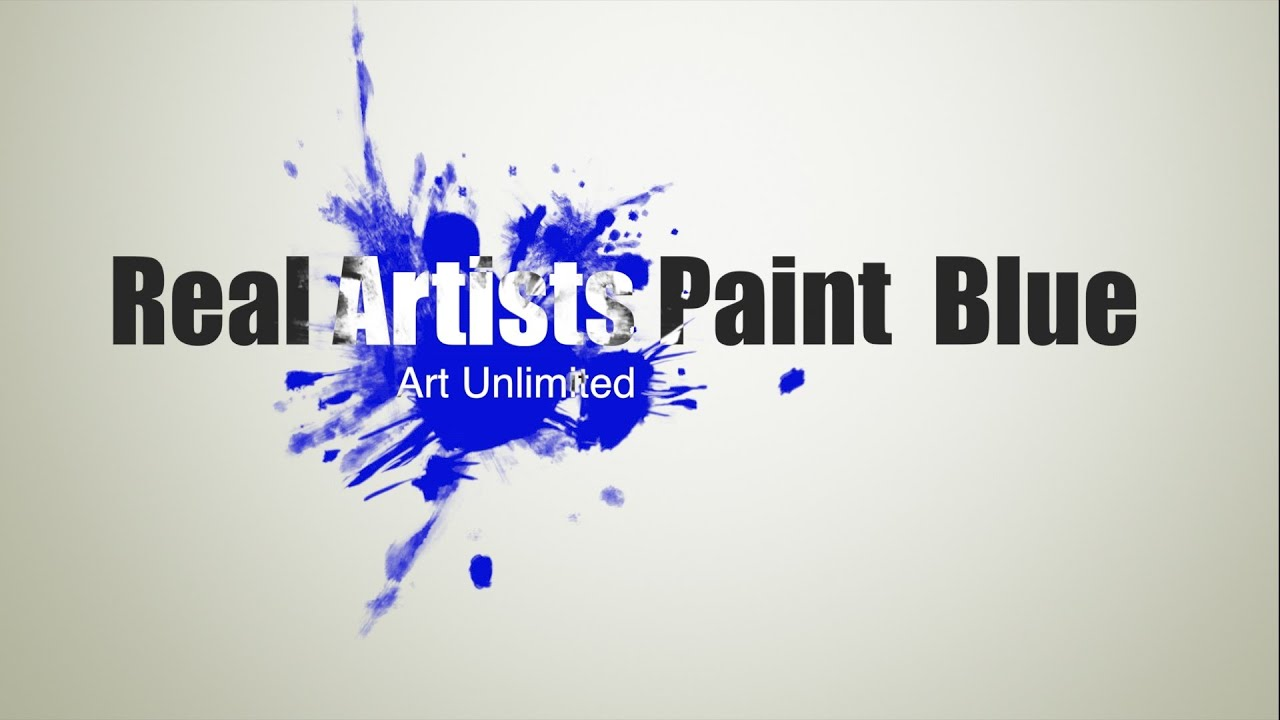 Online Exhibition #2: Real Artists Paint Blue
