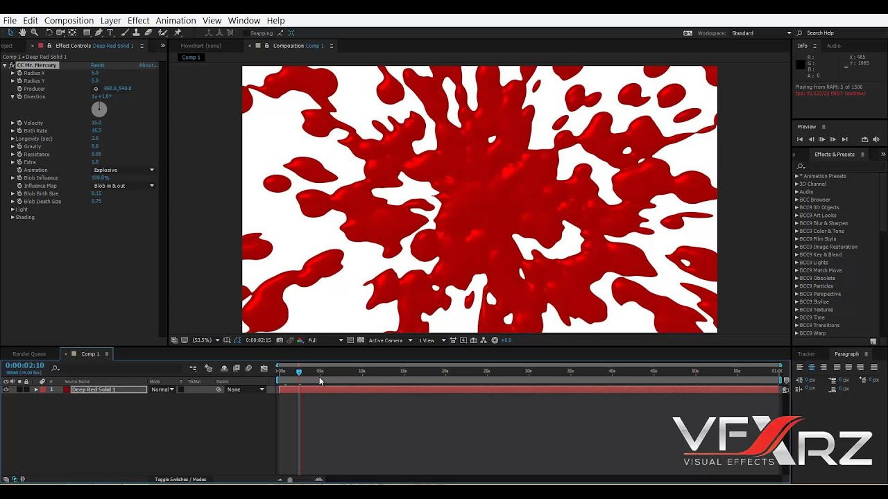 Blood Templates for FCP X, FCP 7, Motion, or After Effects : Apple