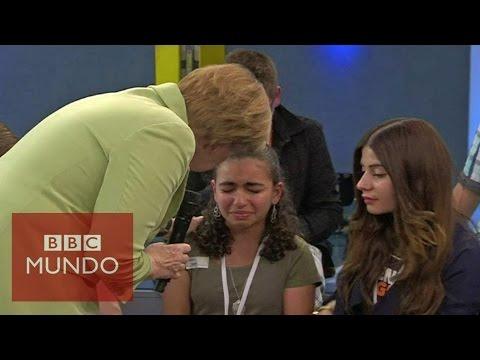 La respuesta de Angela Merkel que hizo llorar a una niña palestina