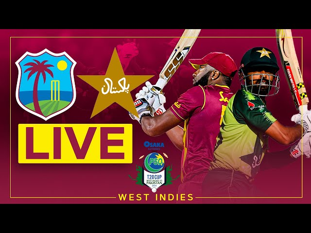 🔴LIVE   West Indies v Pakistan   2nd Osaka Presents PSO Carient T20 Cup Match