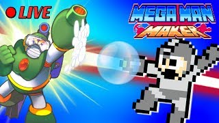 We Play Your MegaMAN Maker Levels LIVE! #34