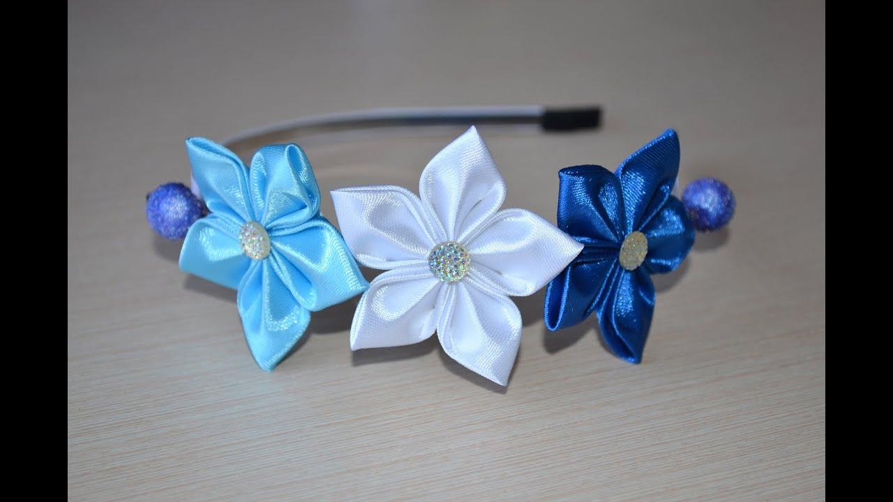 фото цветов из лент фото