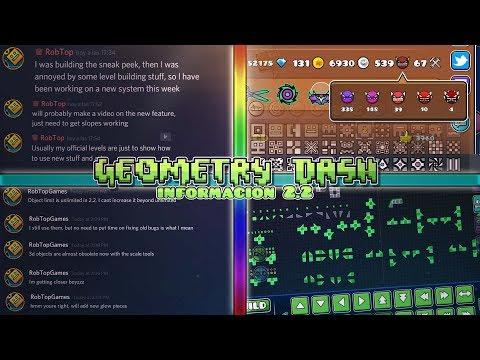 Las Nuevas Noticias Y Novedades Sobre Geometry Dash 2.2 Confirmado Por RobTop