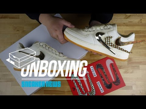 "Travis Scott Nike Air Force 1 ""Sail"" Unboxing + Review"