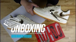 """Travis Scott Nike Air Force 1 """"Sail"""" Unboxing + Review"""