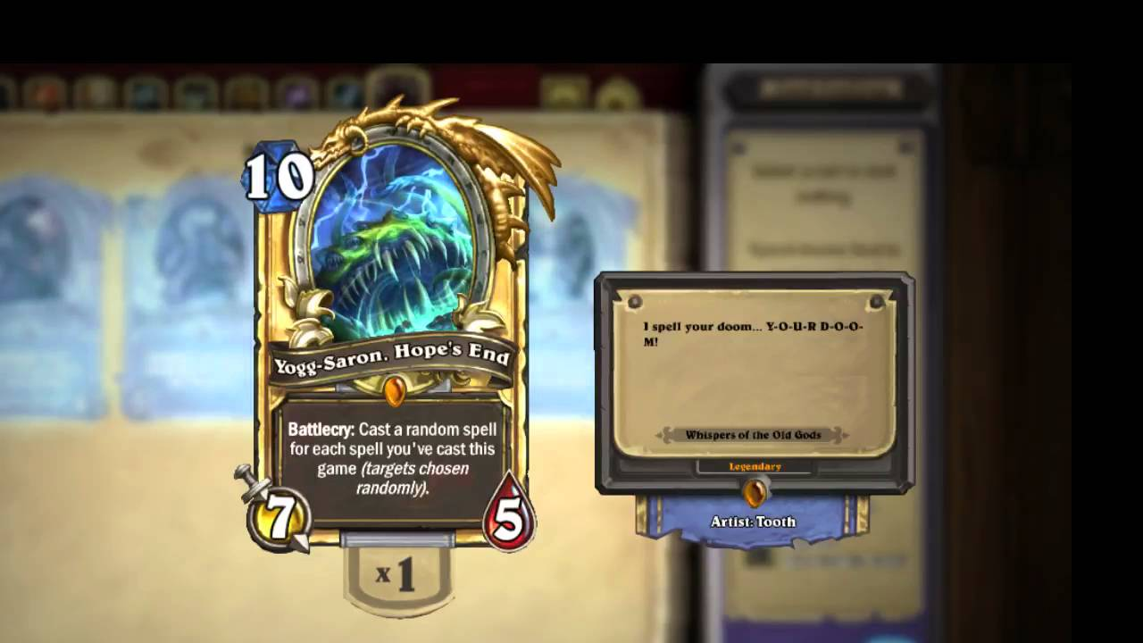 Hearthstone] Yogg-Saron, Hope's End ''Bow down before the God of ...
