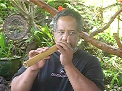 Basics of Ohe Hano Ihu, Hawaiian Nose Flute - YouTube